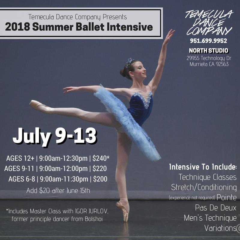 Summer Ballet Intensive 2018 | Temecula Dance Company